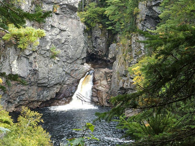 Indian Brook Falls for nearby Cabot Trail hiking