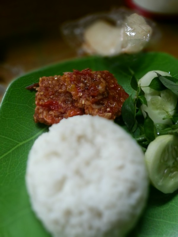 Tempe soy Vegetable with chili paste with onion