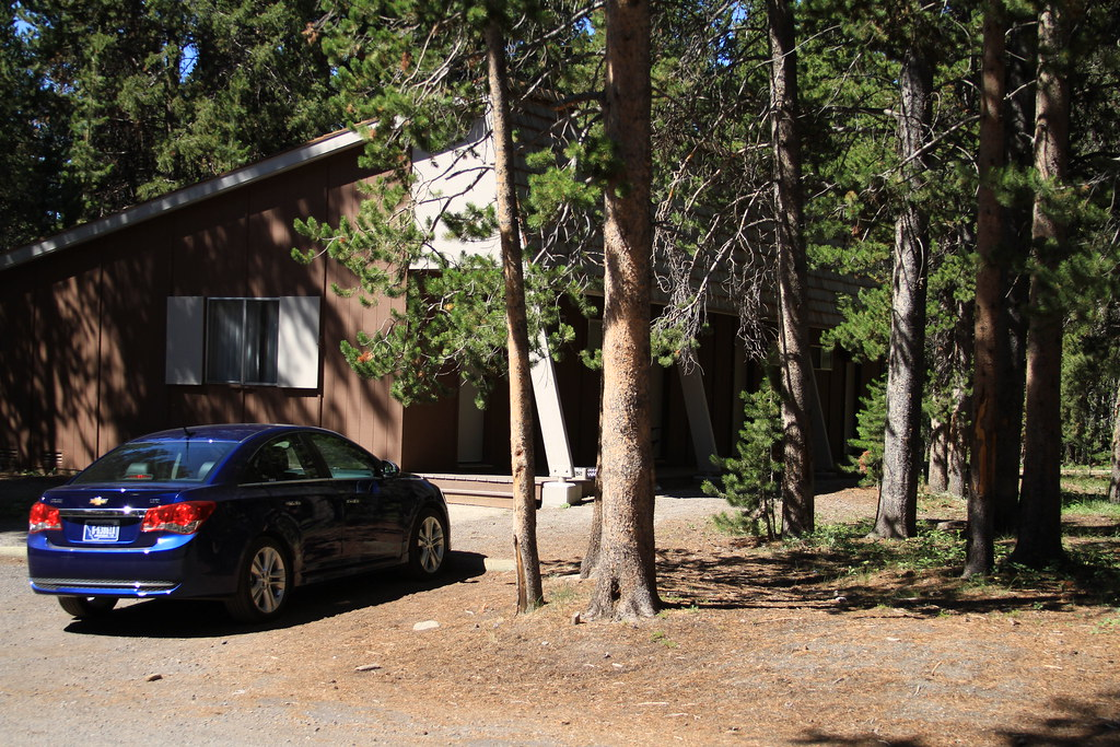 Lake Lodge Car Parked In Front Of Cabin Lake Lodge Car