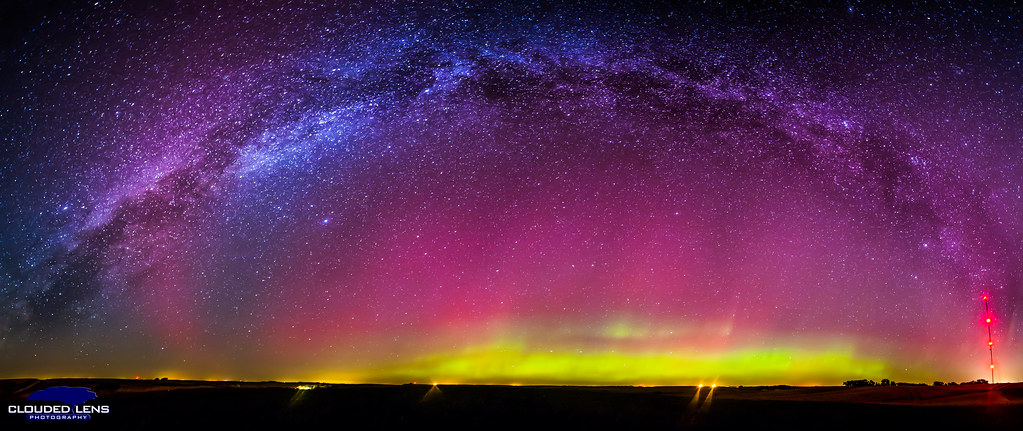 A Beautiful Sky Milky Way And Auroras On October 1st