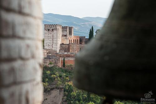 La Alhambra desde el campanario de la iglesia de San Nicolás