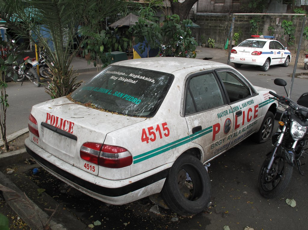 Abandoned Police Car Toyota Corolla Davocano Flickr