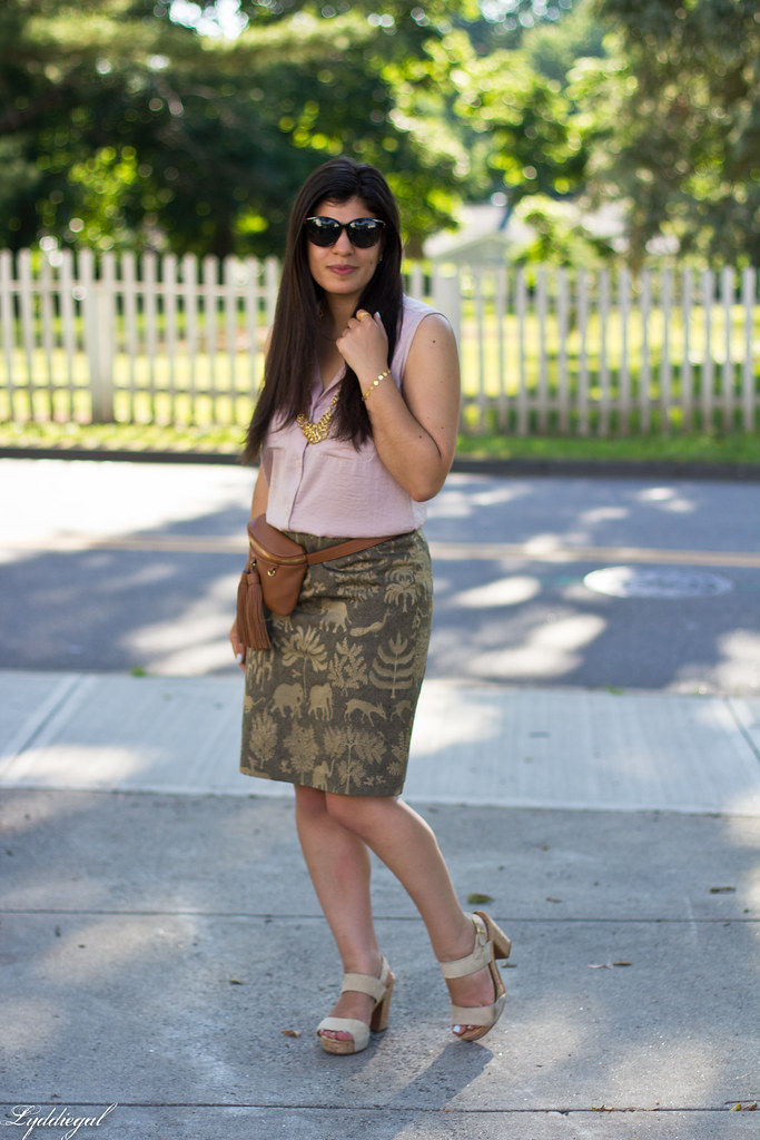 elephant print skirt, pink blouse, tassel waist bag-7.jpg