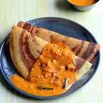 Spicy tomato sambar for dosa