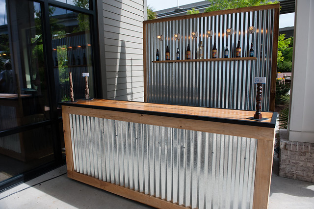 Corrugated Metal Bar Large And Corrugated Metal Backdrop