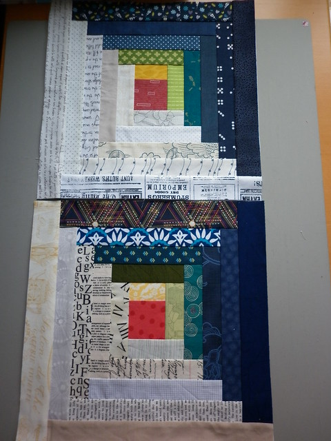 Two log cabin blocks for Emily