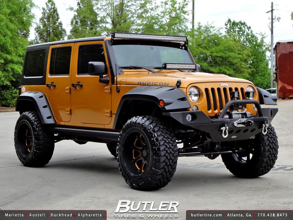 Jeep Wrangler Rubicon With 20in Black Rhino Glamis Wheels