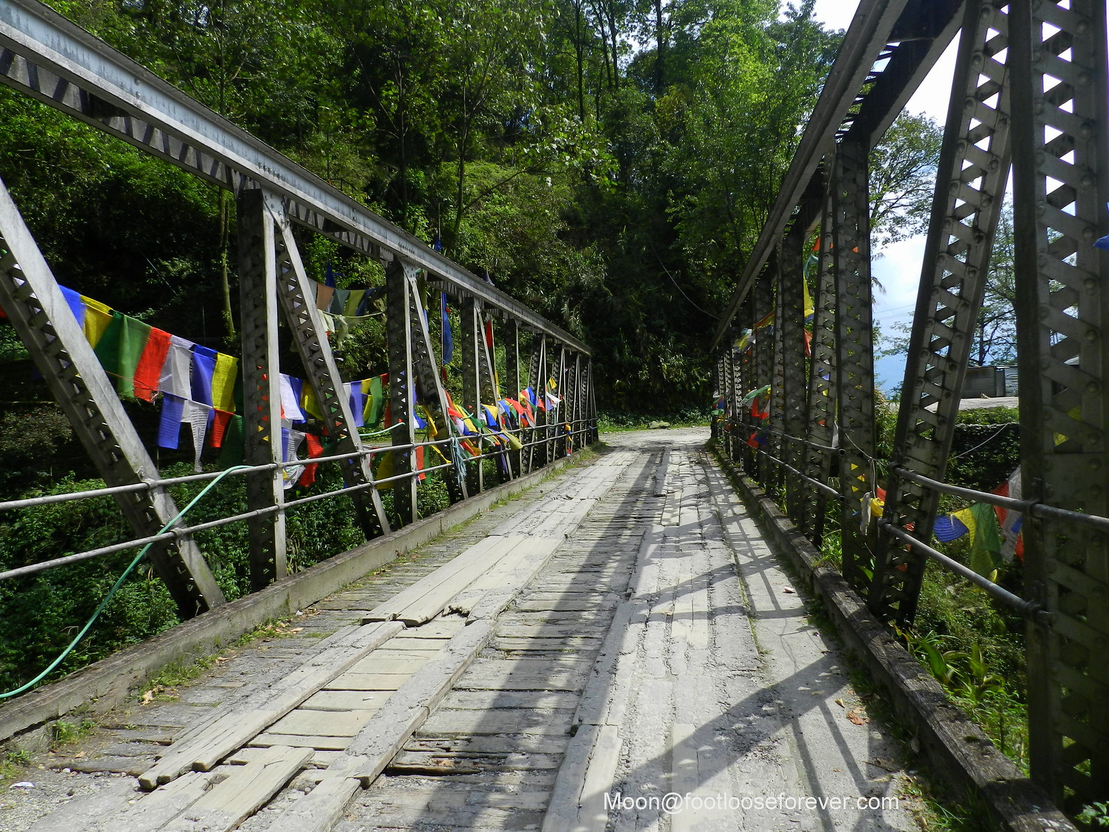 bridge, mountain road, sikkim