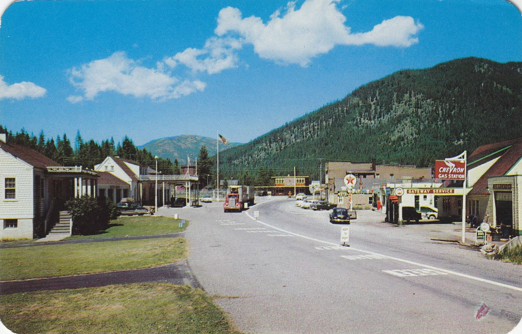 Postcard: Border Crossing at Eastport/Kingsgate, c.1955 ...