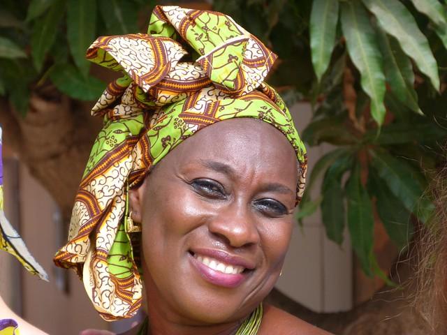 Mujer fotografiada en Gambia