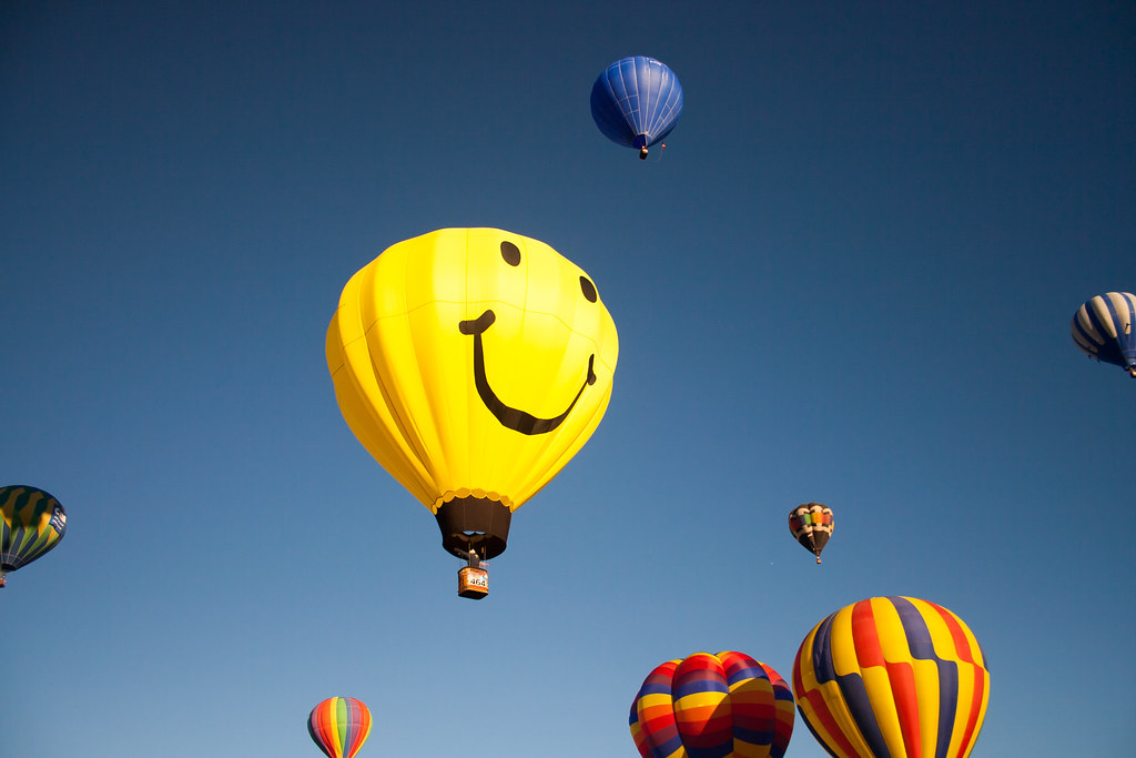 Quotes About Smiling Mr. Smiley Hot Air Bal...
