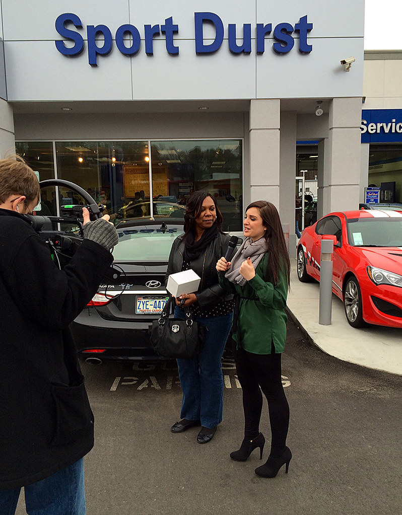 Sport Durst Hyundai >> Morgan interviewing a customer at Sport Durst Hyundai. | Flickr