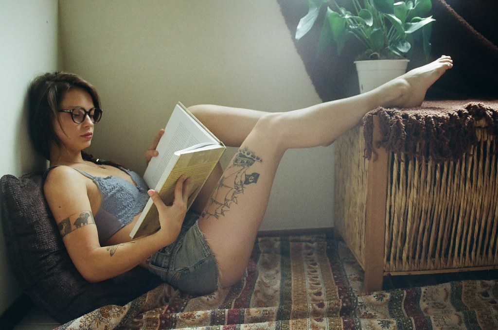 hot girl with glasses