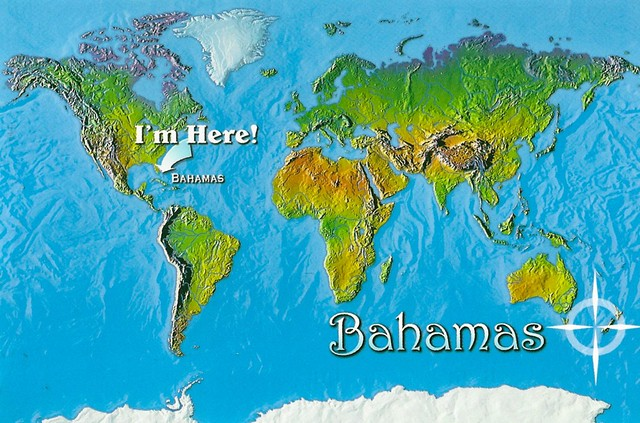 Bahamas World Map I 39 m Here I m Here Bahamas Greetings Flickr P