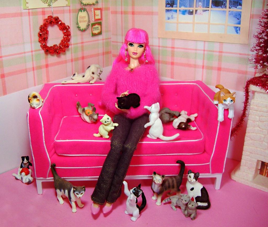 Cat Barbie House
