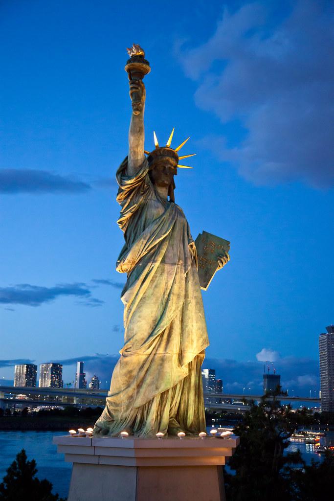 statue of liberty night - photo #32