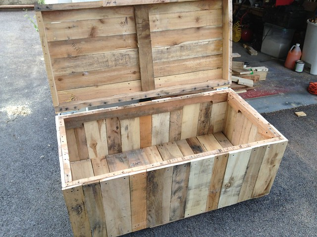 chest large made from reclaimed wood pallets hope chest toy chest