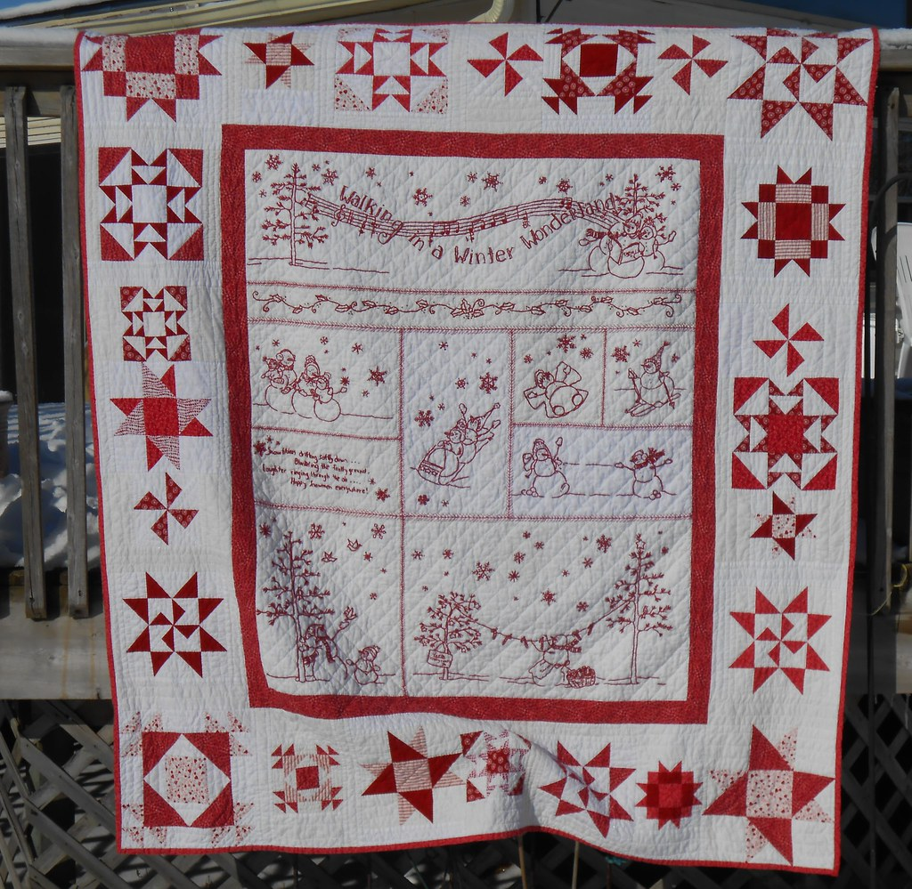 029 winter wonderland quilt a pattern from crabapple for Red door design quilts