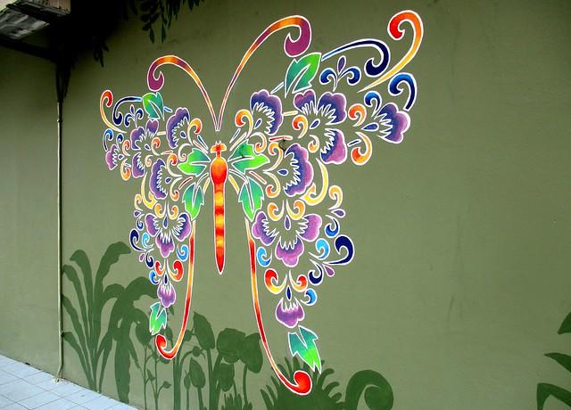 Sibu street art butterfly 2