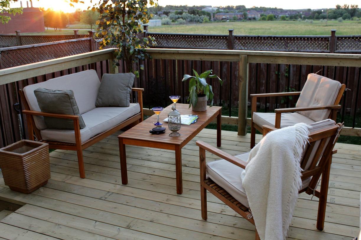 backyard deck wooden deck furniture