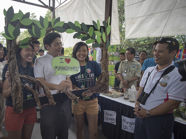 Mangrove photo booth at Learn about the Restore Ubin Mangroves (R.U.M.) Initiative at Pesta Ubin 2016