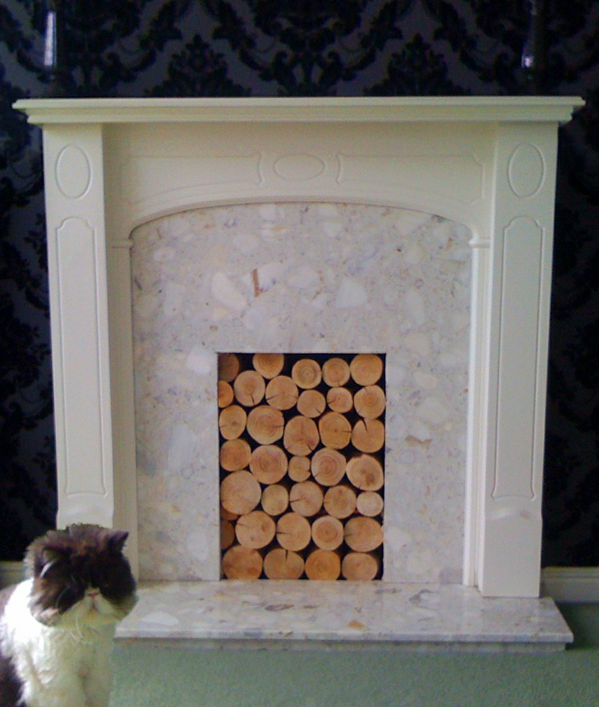 Decorative Logs In Feature Fireplace A Neat Use Of Our Log Flickr