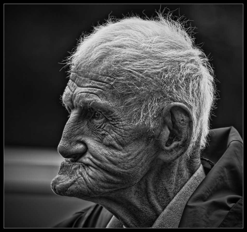 Profile on an older man b&w | Flickr - Photo Sharing!: https://www.flickr.com/photos/ibraheemadams/9666944216