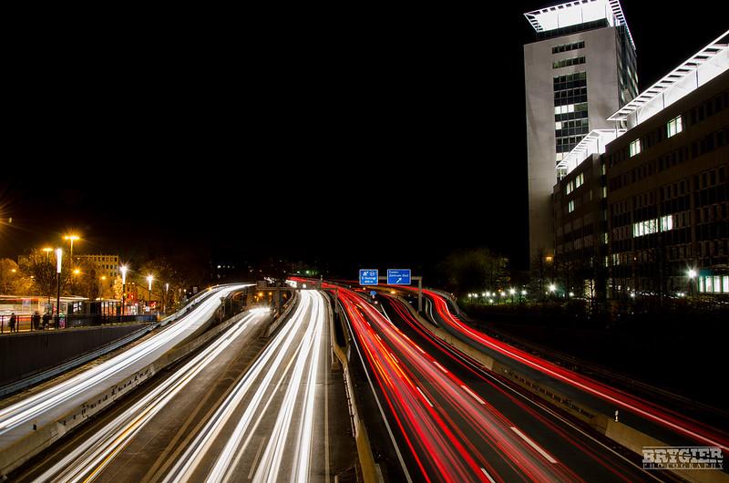 Essen - Traffic at night!