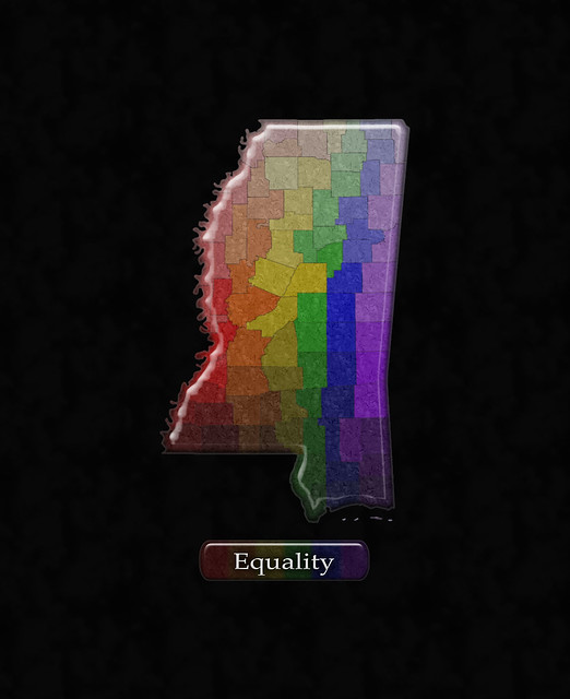 A graphic promoting LGBTQ equality in Mississippi. (liveloudgraphics/Flickr)