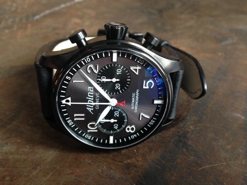 alpina startimer pilot chrono alternative to the iwc top gun what do you think watches. Black Bedroom Furniture Sets. Home Design Ideas