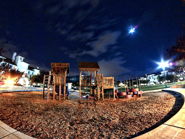 Playgound At Night