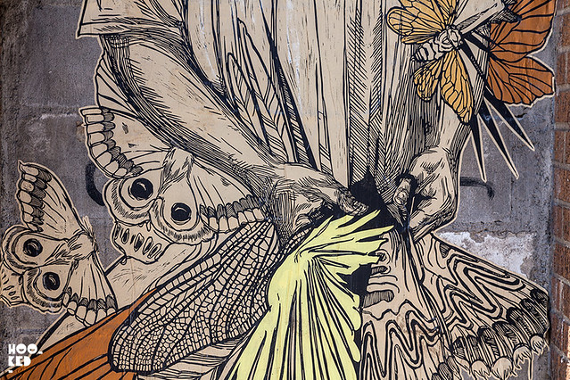 Stunning new Wheatpaste works by Brooklyn Street Artist Swoon