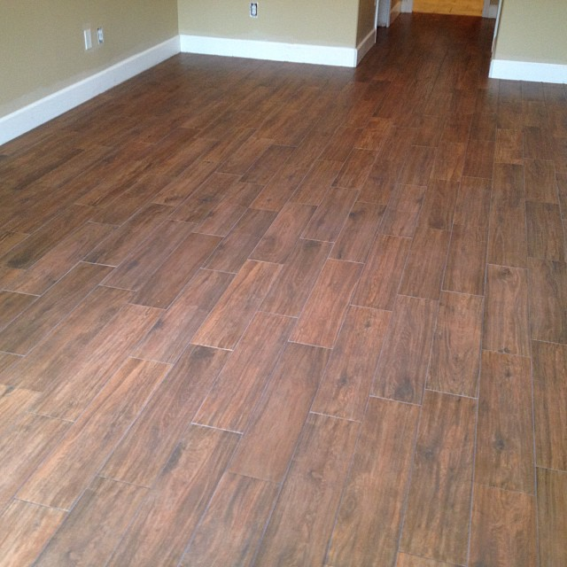 Florida Tile 6x24 Quot Berkshire Quot Hickory Plank Tile On The Od