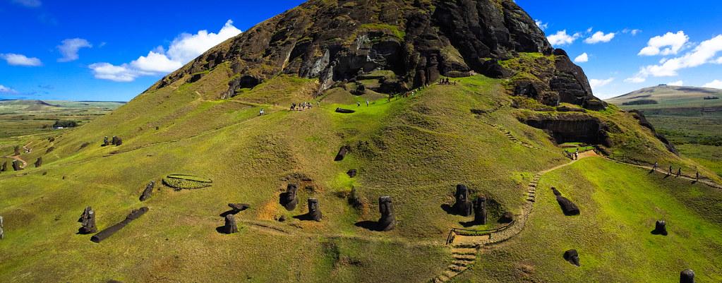 Kite Aerial Photography on Rano Raraku - Easter Island  Flickr