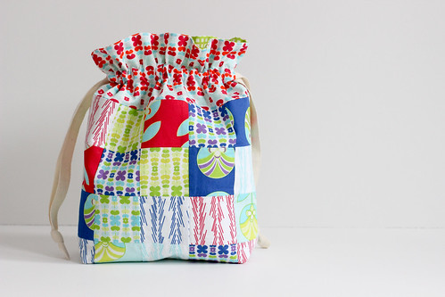 Patchwork Drawstring Bag How To