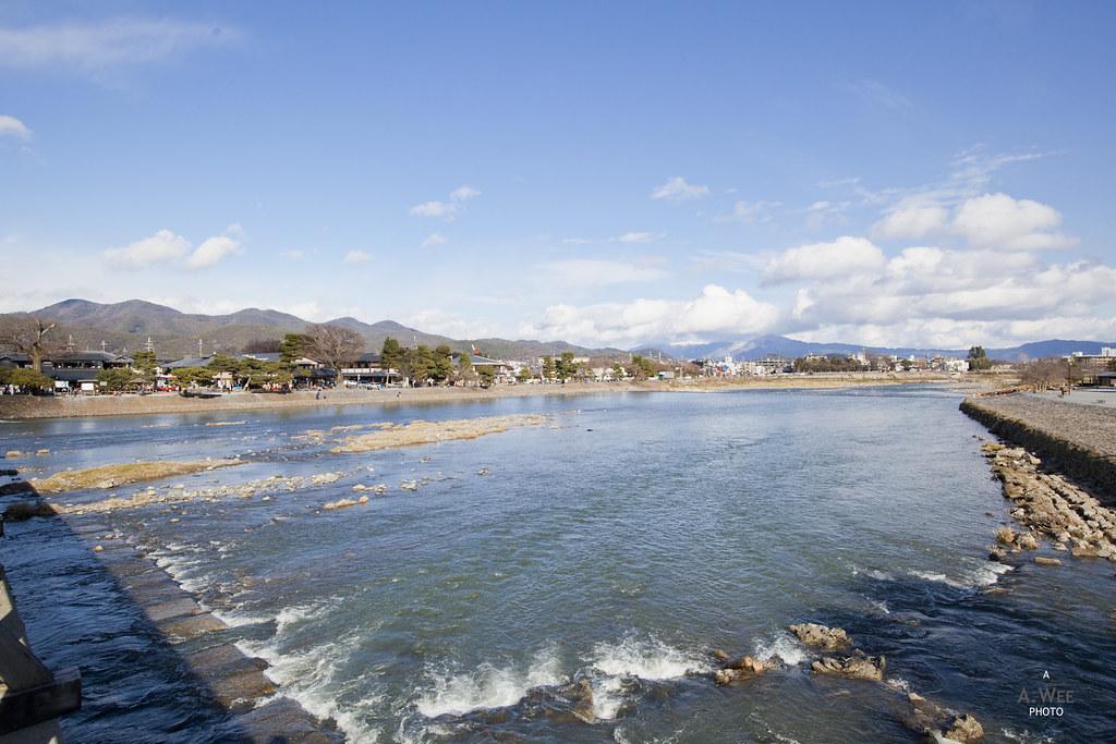 Water flowing at the Katsura River