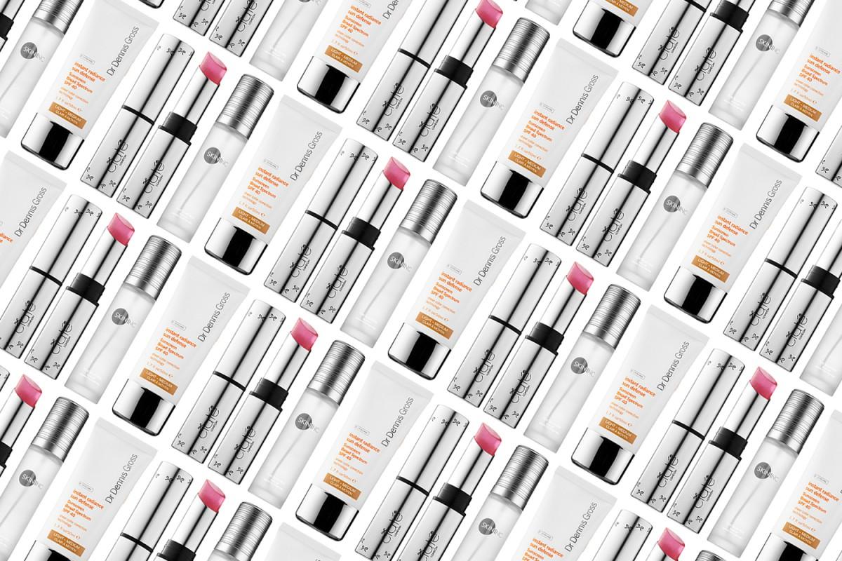 Ciaté London Scrub Stix Exfoliating Lip Balm, Skin Inc. Pure Serum-Mist and Dr. Dennis Gross Skincare