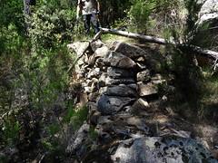RG du Carciara (branche Paliri) : vestiges du système de téléphérique le long du ruisseau (?)