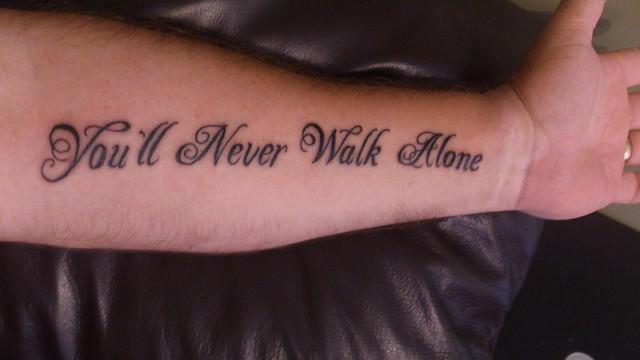 y n w a you 39 ll never walk alone tattoo flickr