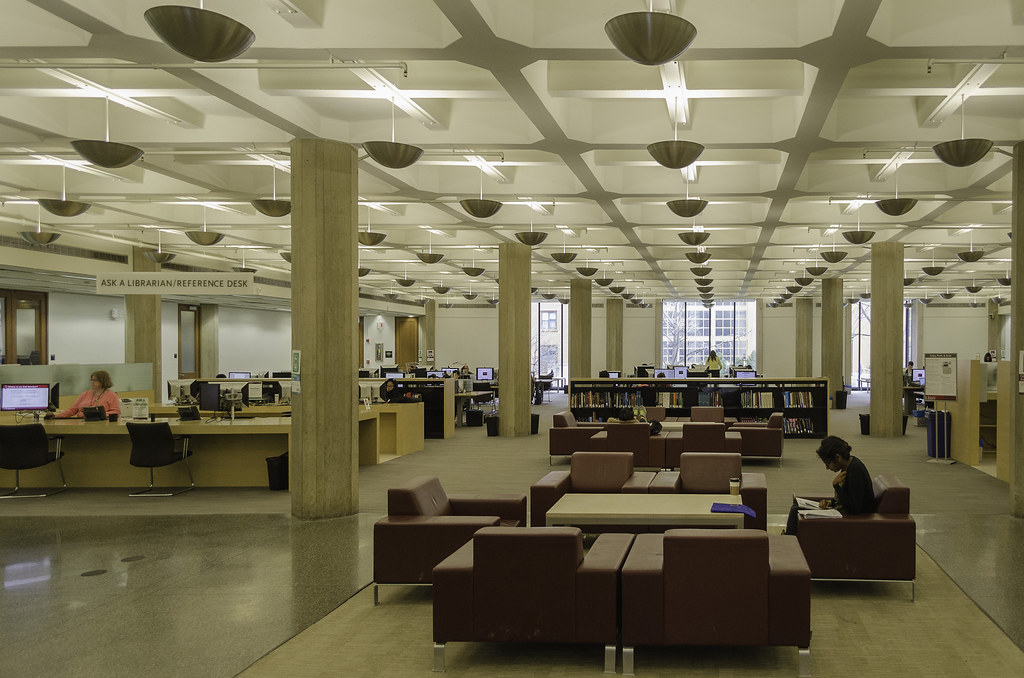 Waffle Slab Ceiling University Of Chicago Regenstein Libr
