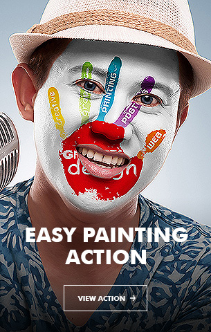 Painting - 4in1 Photoshop Actions Bundle V.1