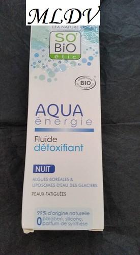 fluide détoxifiant so'bio etic soin de nuit