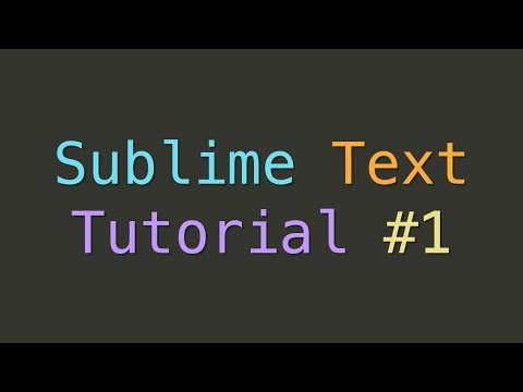 【教學視頻】Sublime Text 1-12集