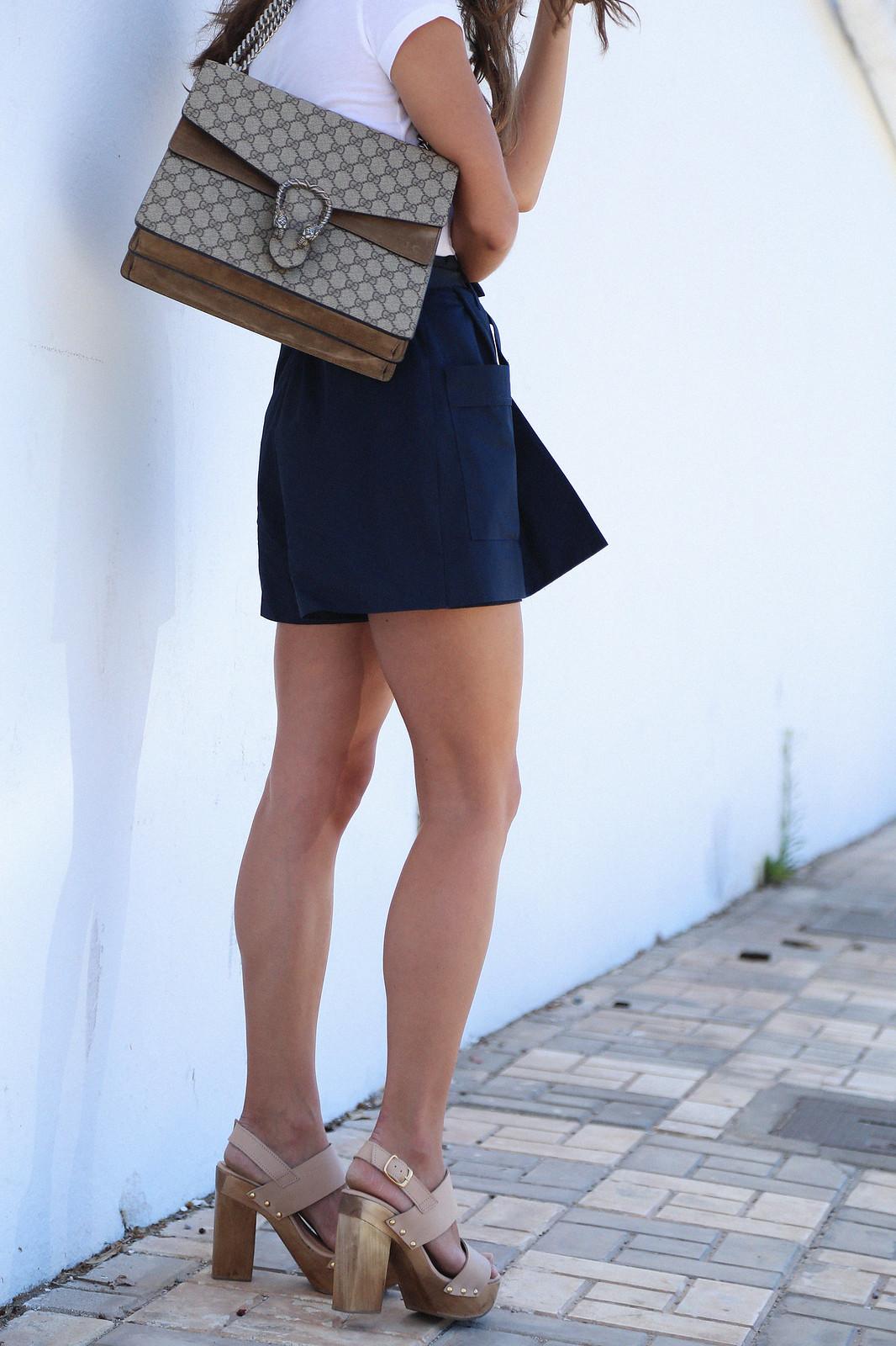 jessie chanes seams for a desire blue skort white tshirt wooden wedges sandals-10