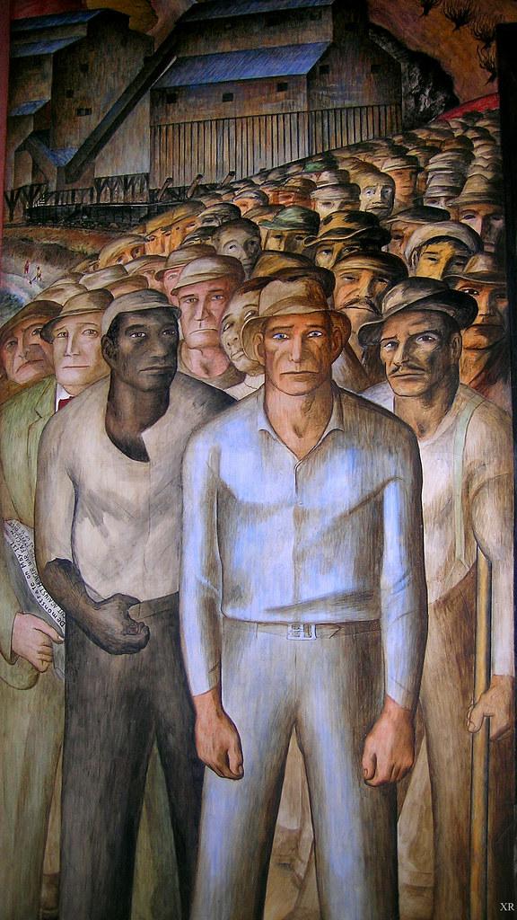 1933 coit tower sf murals wpa artist john for Coit tower mural artists