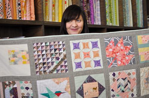 Debbie & the quilt!