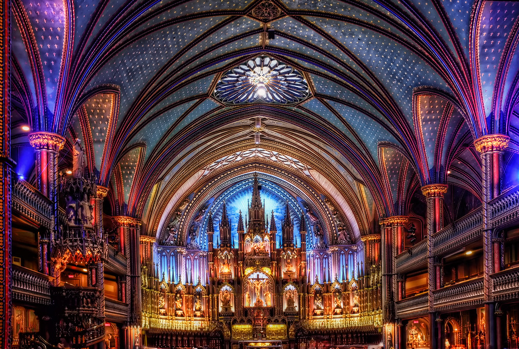 Notre-Dame Basilica of Montreal | The awesome interior of ...