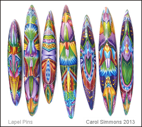 floral lapel pins by carol simmons | carol l simmons | flickr