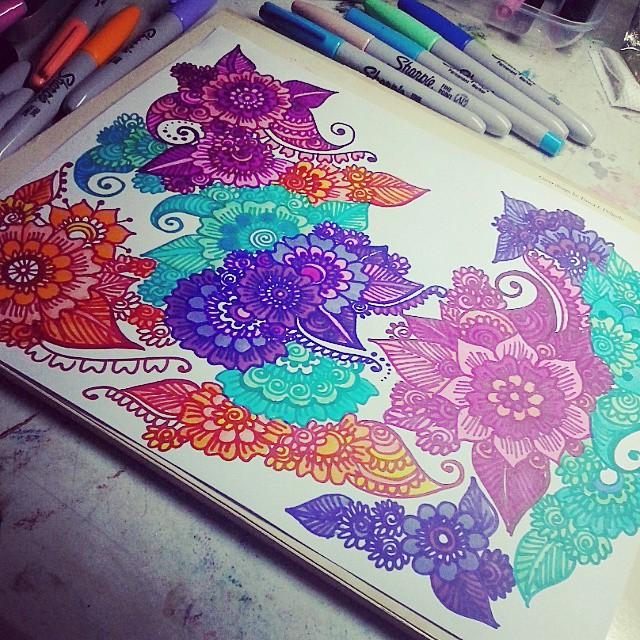 doodle insomnia doodle doodling doodlegalaxy floral f