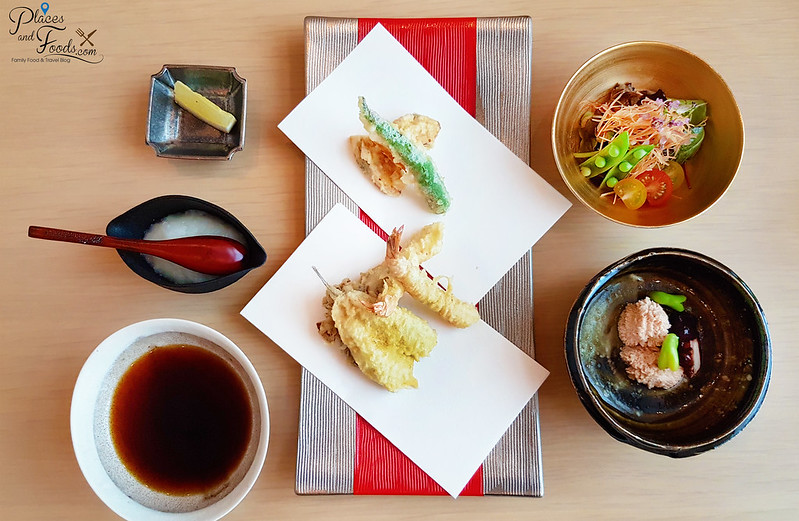 ginza tenkuni apricot lunch set menu top view